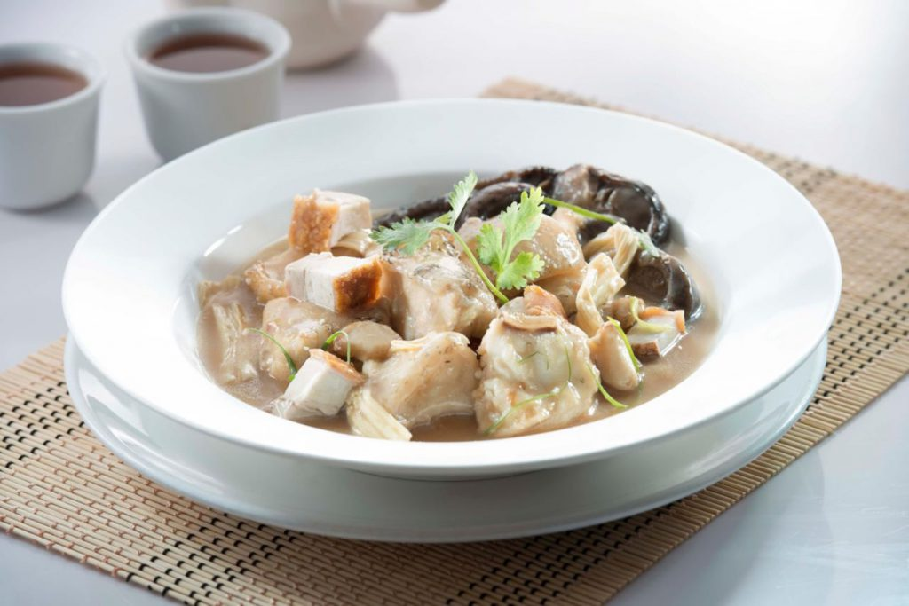 Braised Giant Grouper with Beancurd Stick