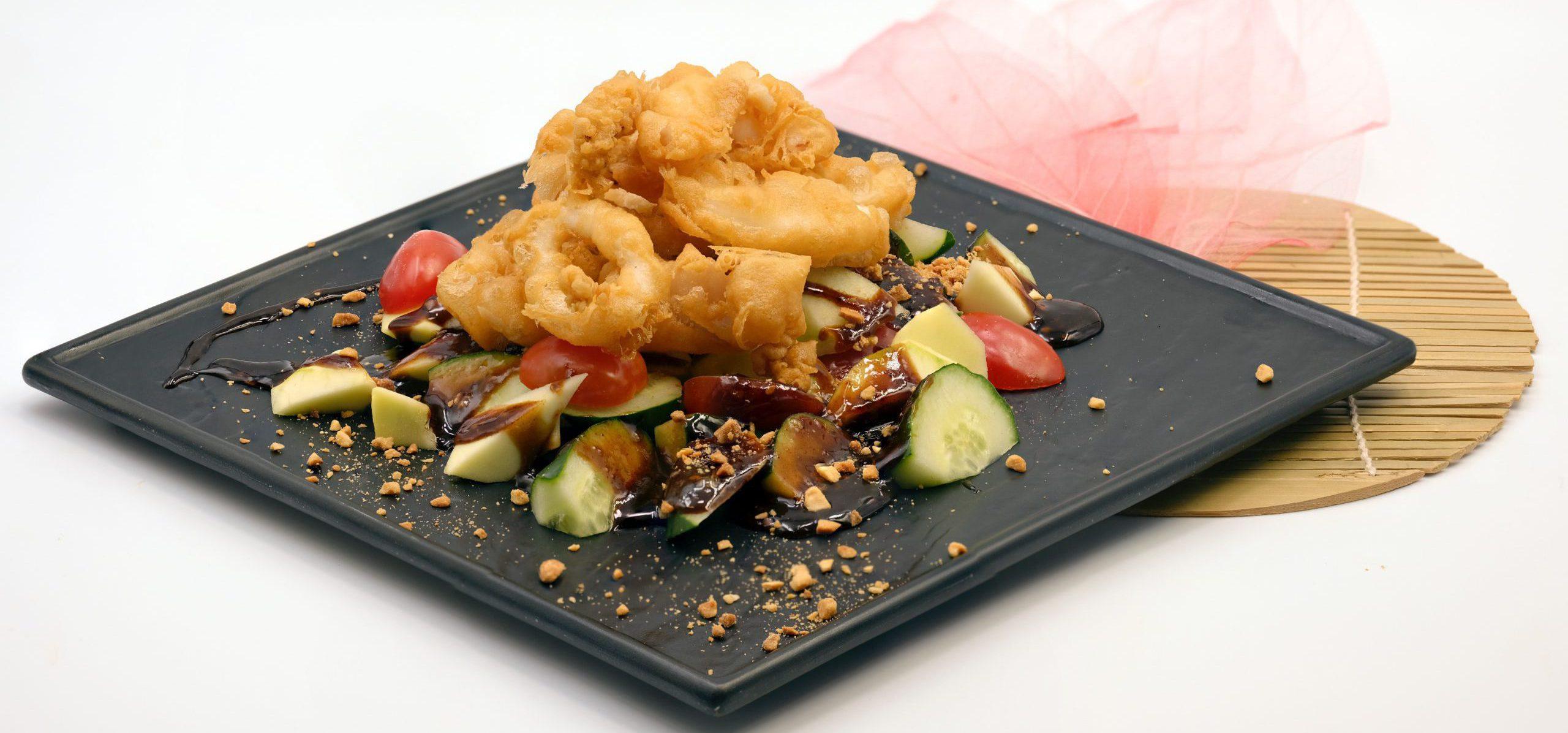 Deep fried squid