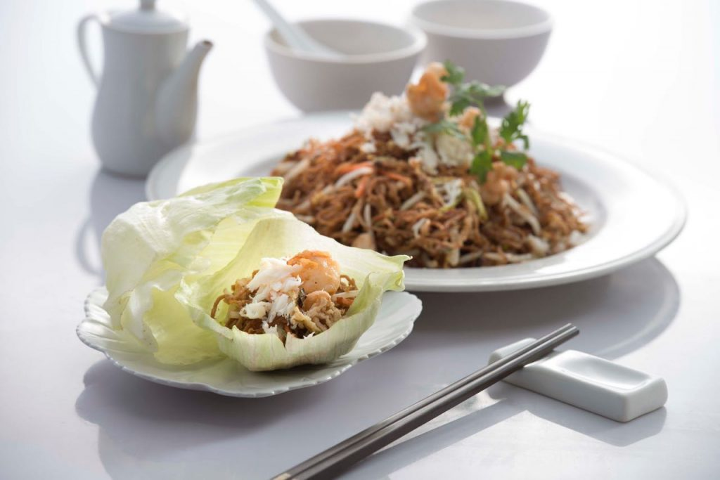 Fried Noodles with Egg & Crab Meat