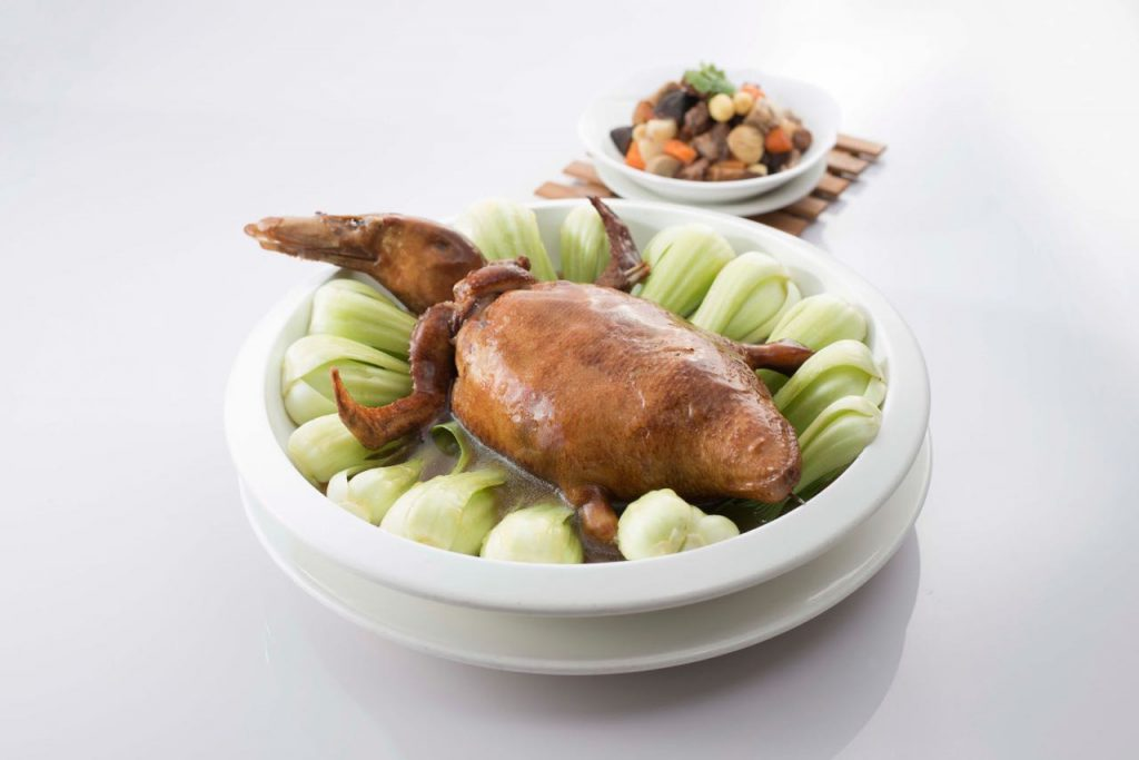 Braised Whole Duck with Mixed Treasures