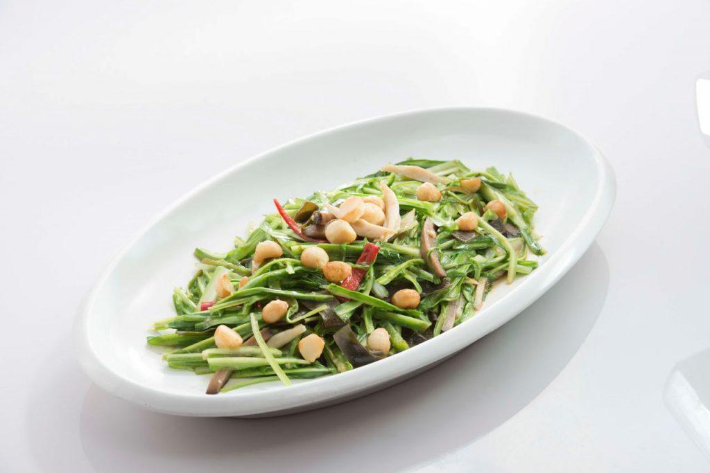 Stir Fried Vegetables with Seaweed & Shredded Fish Paste