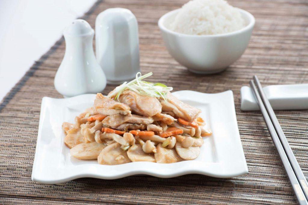 Stir Fired Chicken with Mushrooms